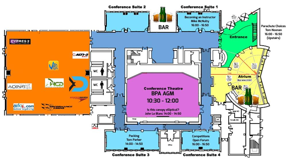 BPA Expo Map of EMCC