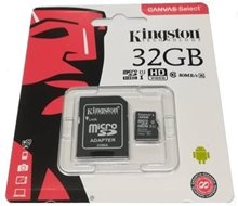 32 GB Micro SD Card and SD Adapter