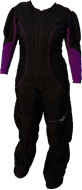 Black and purple suit
