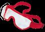 Super soft over glasses goggles, red