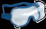 Soft over glasses goggles, blue
