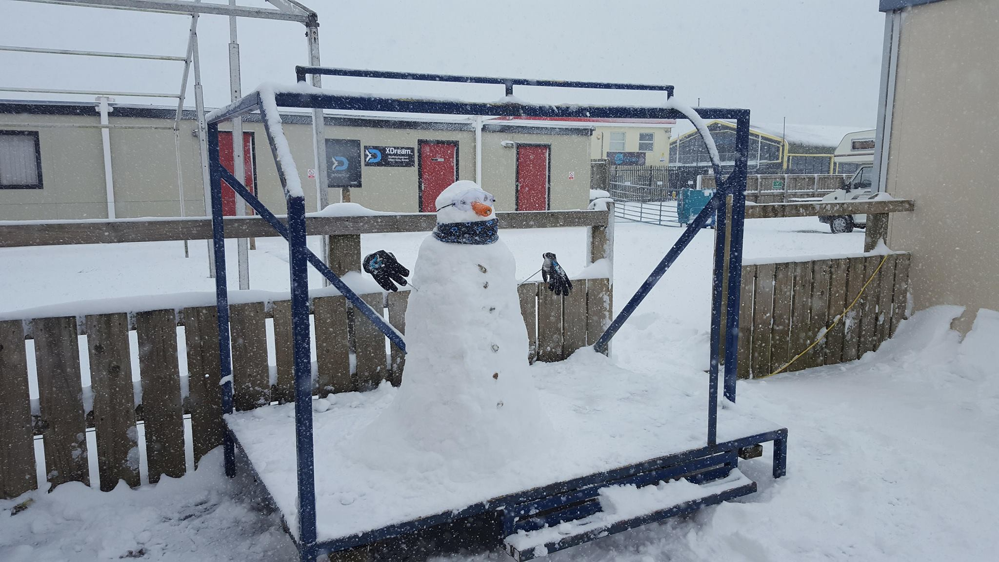 XDream Snowman at Dunkeswell